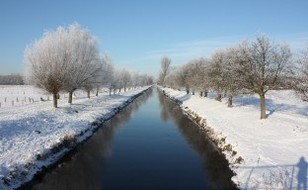 Niers in Grefrath im Winter